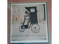 L S Lowry Signed limited edition print. The Contraption