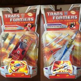 Rodimus & Starscream figures boxed MIB