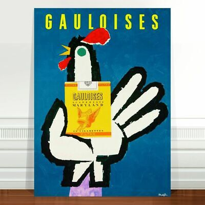 "Vintage Cigarette Advertising Poster Art ~ CANVAS PRINT 8x10"" Gauloises"