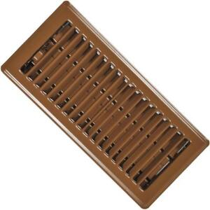 "( Pack Of 24 ) RG0227 Standard Floor Registers - Louvered Design - Steel - Brown Painted - 4""x 10"" Floor Register"