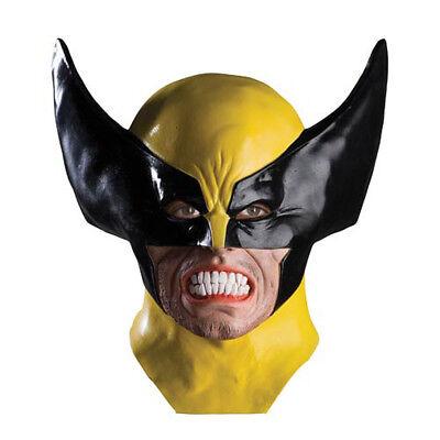 Erwachsene Deluxe Wolverine X-Men Film Superhero Voll über Kopf Latex Maske ()