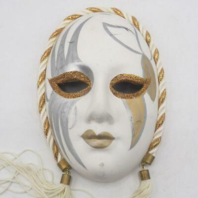New Orleans Mardi Gras Mask Wall Hanging Decor Porcelain Ceramic Vtg