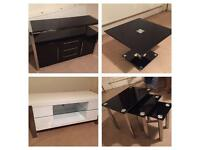 7 Piece Furniture Set, Sideboard, TV Stand, Coffee Table, Nest of Tables