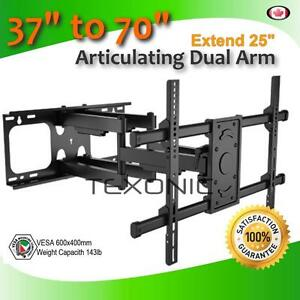 "TV WALL MOUNT FITS 37-70"" TV ARTICULATING FOR LED LCD PLASMA  - FREE Shipping - SOLID HEAVY DUTY"