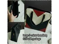 3 colour handbag brand new large
