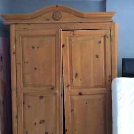 Large pine double wardrobe for project / repair