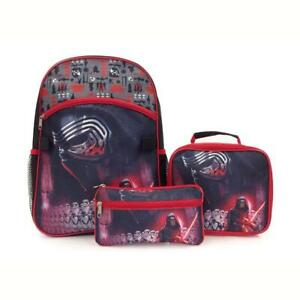 Star Wars Kylo Ren 15 Inch School Bag Backpack Lunch Bag with Pencil Case Set for Kids
