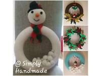 Handmade Crochet Wreaths