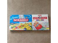 Junior monopoly and junior scrabble games