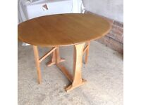 Ercol folding table and goldsmith chairs set or separate pale wood