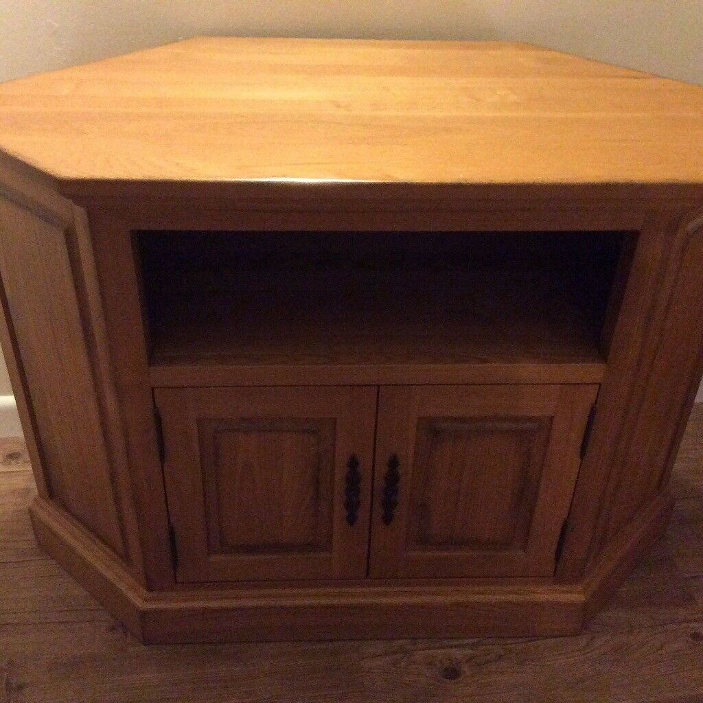 Solid Oak Corner Tv Cabinet In Lee On The Solent Hampshire Gumtree