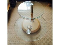 COFFEE TABLE - GLASS ROTATING