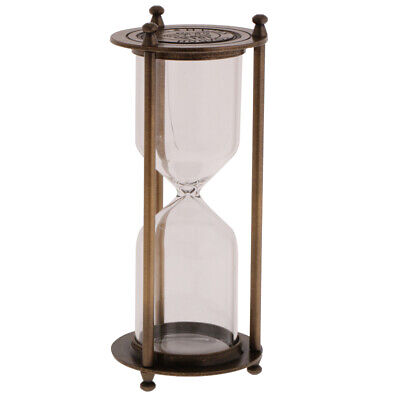 Retro Metal Empty Hourglass Sandglass Sand Timer Home Office Decor Bronze S