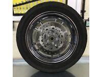 Harley Davidson Dyna Rear Wheel, Disc, Caliper & Rear Sprocket