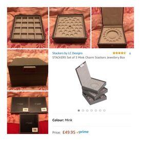Stackers Mink Charm Jewellery Box - NEW