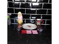 Christmas mug and plate some more stuff