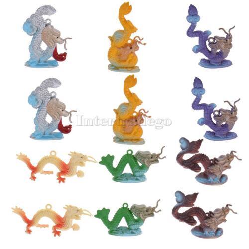 12 plastic mini chinese dragon model figurine plastic kids educational toy ebay. Black Bedroom Furniture Sets. Home Design Ideas