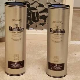 Glenfiddich rare discintinued Caoran Reserve Silver tins
