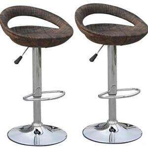 Brand New @ WWW.BETEL.CA || 2-Pack Modern Wicker Finish Swivel Pub Bar Stools || Set of 2 || Free Delivery!!