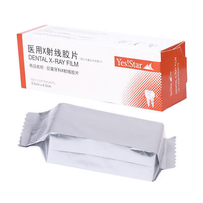 100 Pcs Yes Star Dental X-ray Film Size 3 Cm X 4 Cm For Reader Scanner Machine