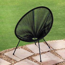 Moon Egg Garden String Chair in Black, BRAND NEW
