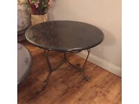 Round Granite Coffee Table 60cm D Excellent Condition Ideal for Cafe Restaurant