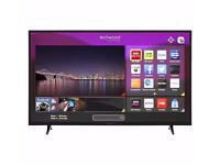 "Techwood 55AO3TSB 55"" Smart LED 1080p Full HD Freeview HD TV Black ( Brand New )"