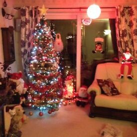 . For sale 6ft Christmas tree decorations and lights