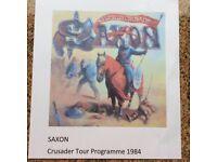 Saxon Crusader 1984 Tour Programme