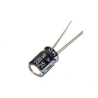10pcs 35v 220uf 35volt 220mfd 105c Aluminum Electrolytic Capacitor 812mm