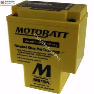 New MOTOBATT BATTERY for HONDA VT1100C Shadow,VT1100C2 Shadow 1985-1999