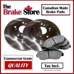 Dodge Caravan 2008 - 2016 Single Piston Front Brake Pads and Rotors Canadian Made Brake Pads