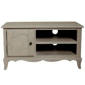 Dunelm Annabelle Solid Limewashed Oak TV Unit Cabinet