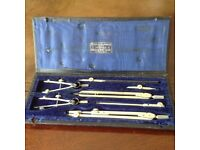 Haldens technical drawing set incl. Micrometer