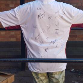 Retro signed Aston Villa football shirt