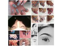 Nails,lashes,brows,spray tan,shrinking violet