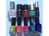 Job lot of naol polish: Loreal, Rimmel other