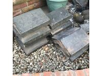 Reclaimed Victorian blue Staffordshire coping stones