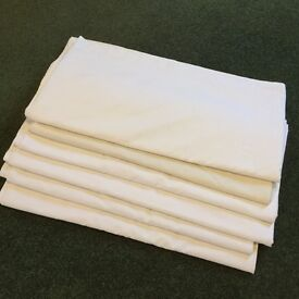 6 double sheets in cream
