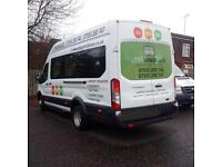 MINIBUS HIRE WITH DRIVER, very competitive quotes, quick quotes, card payments accepted.
