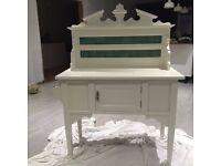 restored victorian tiled back wash stand in good order