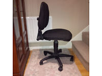 3 Office Chairs - Charcoal Grey Fabric - 5 Castor Feet - Gas Lift - Very Lightly Used