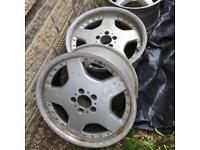 """2 x 18"""" MERC Mercedes Silver Alloys Split Rims"""