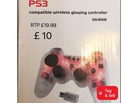 New PS3 Wireless Controller - Glowing Red.