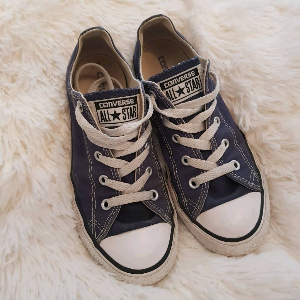 Converse Junior Navy Blue Girls Boys size UK 1