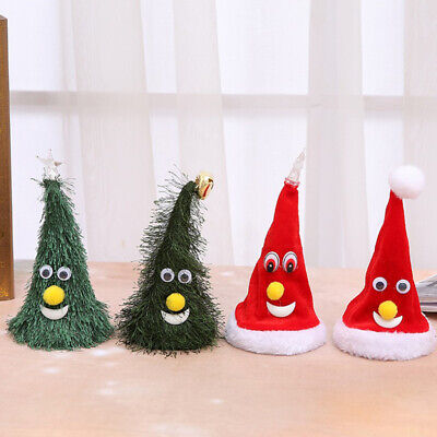 Electric Shaking Christmas Tree /Hat With Light /Music For Party Home Decors ()