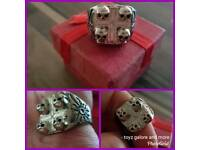 Skull chunky men's ring size T gift boxed 925 stamped