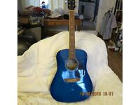Earthfire 6 string, Right handed acoustic guitar in Blue