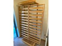 Solid Oak double sofa bed base