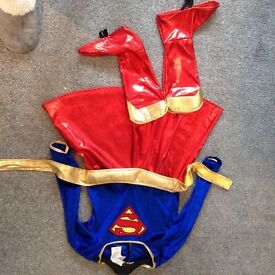 Kids super girl costume medium